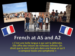 French at AS and A2