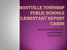 Report Cards - Montville.net