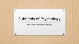 Subfields-of-Psychology