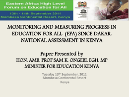 The Eastern Africa High Level Forum on EFA meeting