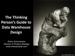 PG West Thinking Persons Guide to Data Warehouse Design