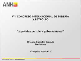 national hydrocarbons agency anh - 11° Congreso Internacional de