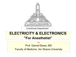electricity anesthesia