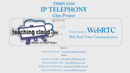 TeachingCloud - webRTC application