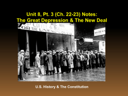Unit 9 Great Depression Notes - Anderson School District Five