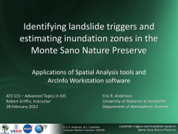 Identifying landslide triggers and delineating inundation zones