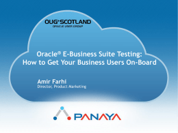 Test - UK Oracle User Group