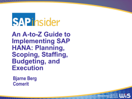 HANA2014_A_to_Z_Guide_Part_1