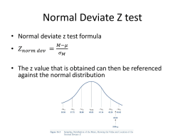 Normal Deviate Z test