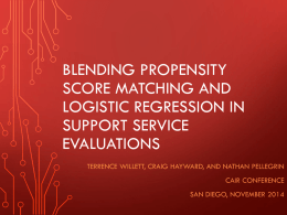 Blending Propensity Score Matching and Logistic Regression in