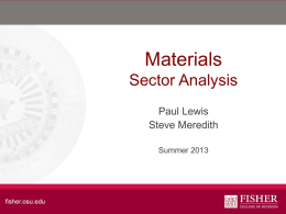Materials Sector Analysis - Fisher College of Business