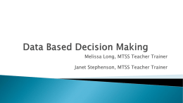 Data Based Decisions - Brevard County Schools