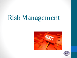 Risk Management - International Federation of Infection Control