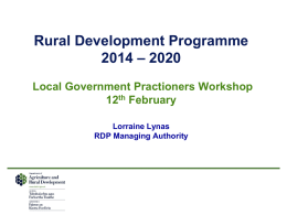 Rural Development Proposals