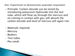 Aim: Experiment to demonstrate anaerobic respiration