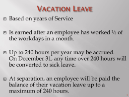 Sick Leave Hierarchy