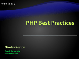 8. PHP-Best-Practices