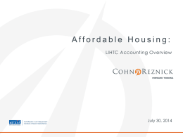 LIHTC Accounting Overview CohnReznick
