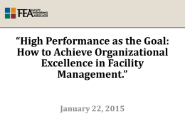 High Performance as the Goal: How to Achieve Organizational