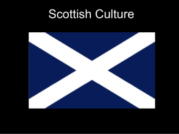 Scottish Culture - Comenius 2012-14