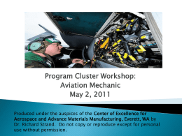 Aircraft Mechanic - Hooked on Leadership