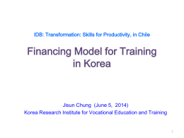 Who pays what? Financing Model for Training