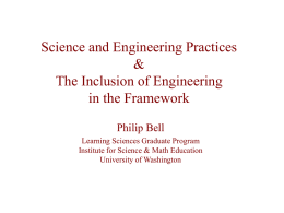 Science and Engineering Practices & The Inclusion of Engineering