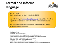 e3l1 Formal and Informal language power point