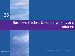 Business Cycles, Unemployment, and Inflation