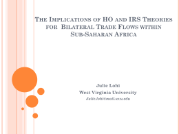 The Implications of HO and IRS Theories for Bilateral Trade Flows