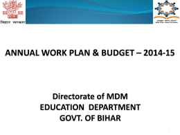 PPT - Mid Day Meal Scheme