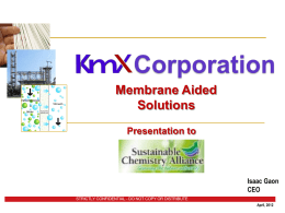 KMX Corporation - Isaac Gaon
