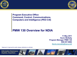 PMW 130 Overview EDO Course