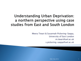 Understanding deprivation - Development Studies Association