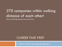 Career Fair Prep PowerPoint - Engineering Student Organizations