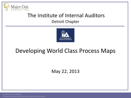 Process Mapping Excellence - The Institute of Internal Auditors