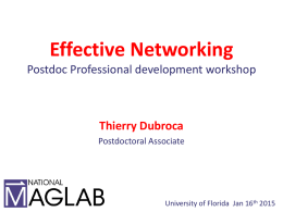 What is Networking? - University of Florida
