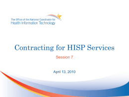 Session 7_Direct Boot Camp_Contracting for HISP
