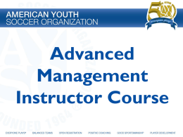 Advanced Management Instructor Course