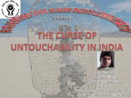 2. the curse of untouchability in india