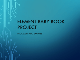 Element Baby Book Project Example