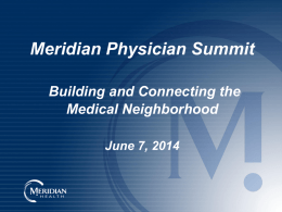 Jersey Health Connect - Meridian Physician Extranet