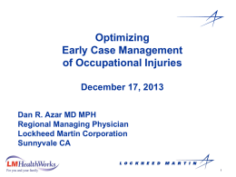 Treating Occupational Injuries