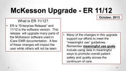 McKesson Upgrade HED Education (Oct., 2013)