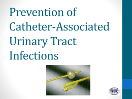 Urinary Tract Infections - International Federation of Infection Control