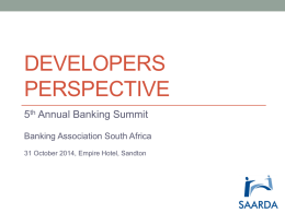 Yusuf Patel - SAARDA - The Banking Association South Africa