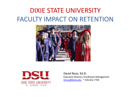 Faculty Impact On Retention presentation