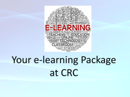 Your ILCT Package at CRC - Cambridge Regional College Virtual