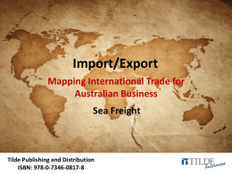 Tb-ImportExport-PPT-Chapter9 - Tilde Publishing and Distribution