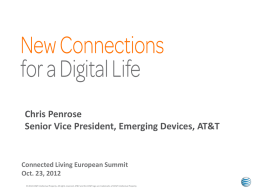 Chris Penrose, EVP Emerging Devices, AT&T Mobility